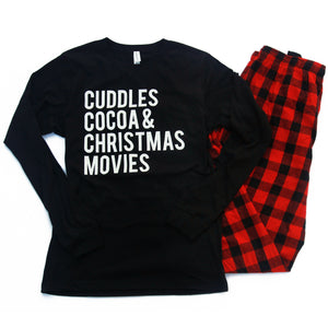 Cuddles Cocoa & Christmas Movies - Adult Pajama Set