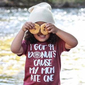 I Got 99 Donuts 'Cause my Mom Ate One white ink - Kids Tee