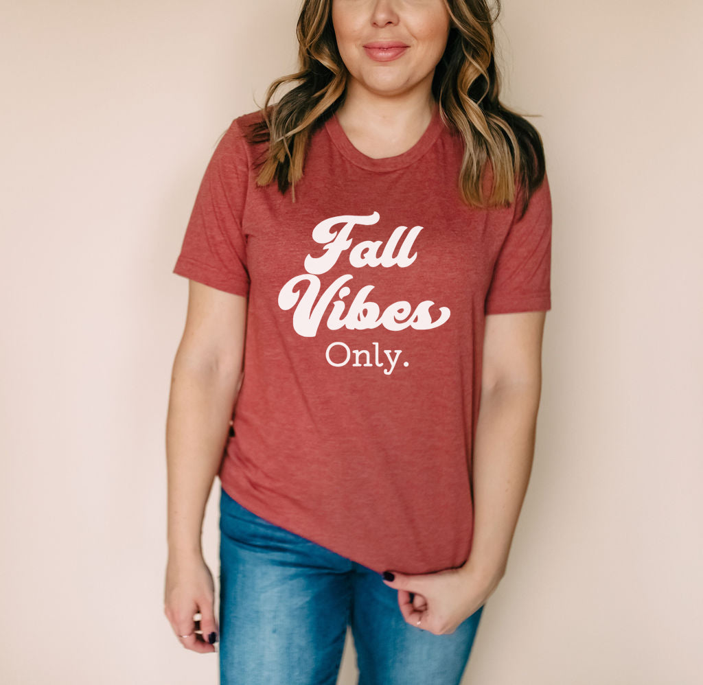 Fall Vibes Only - Heather Clay Unisex Tee