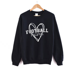 Football Mama - Black Unisex Fleece Pullover