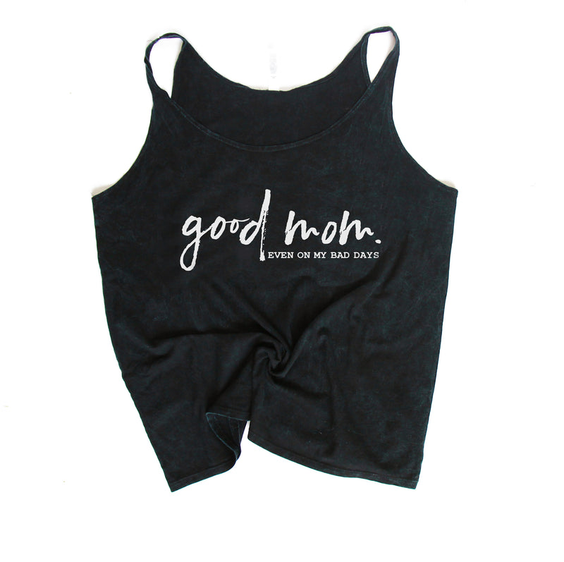 Good Mom Classic - Black Mineral Wash Slouchy Tank