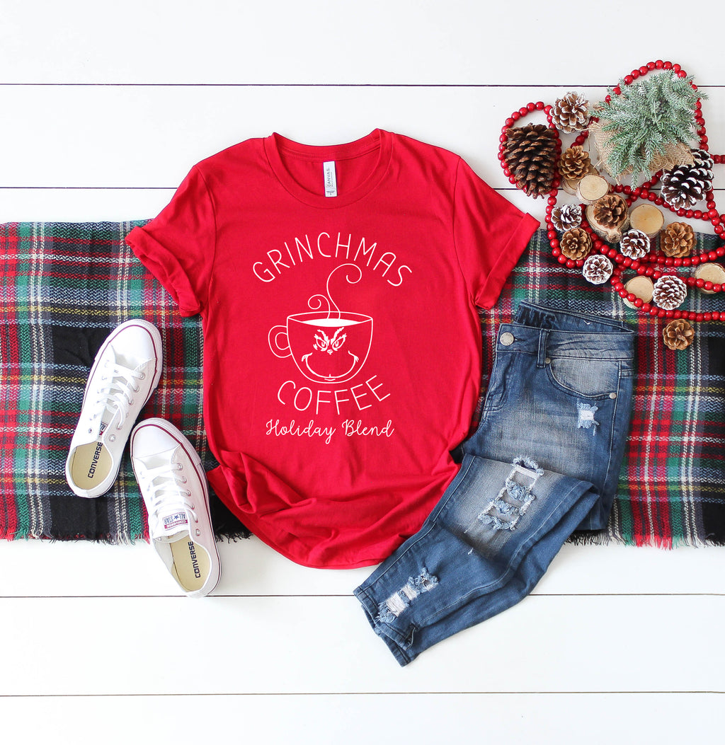 Grinchmas Coffee white - Adult Holiday Tee