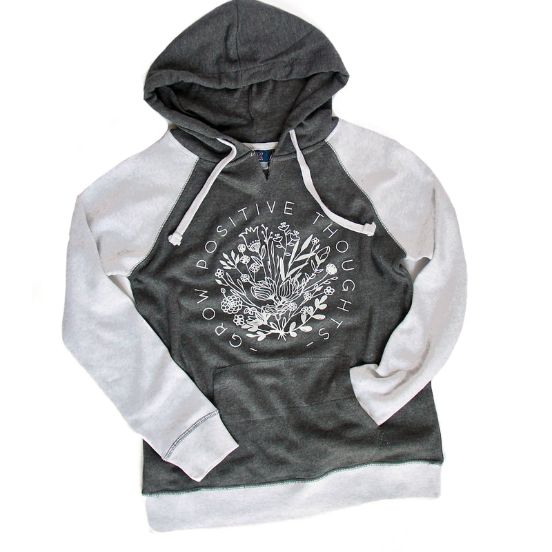 Grow Positive Thoughts - Women's Raglan Hoodie