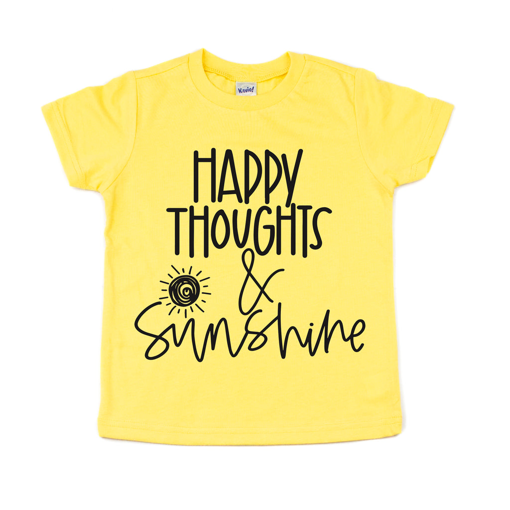 Happy Thoughts & Sunshine - Kids Tee