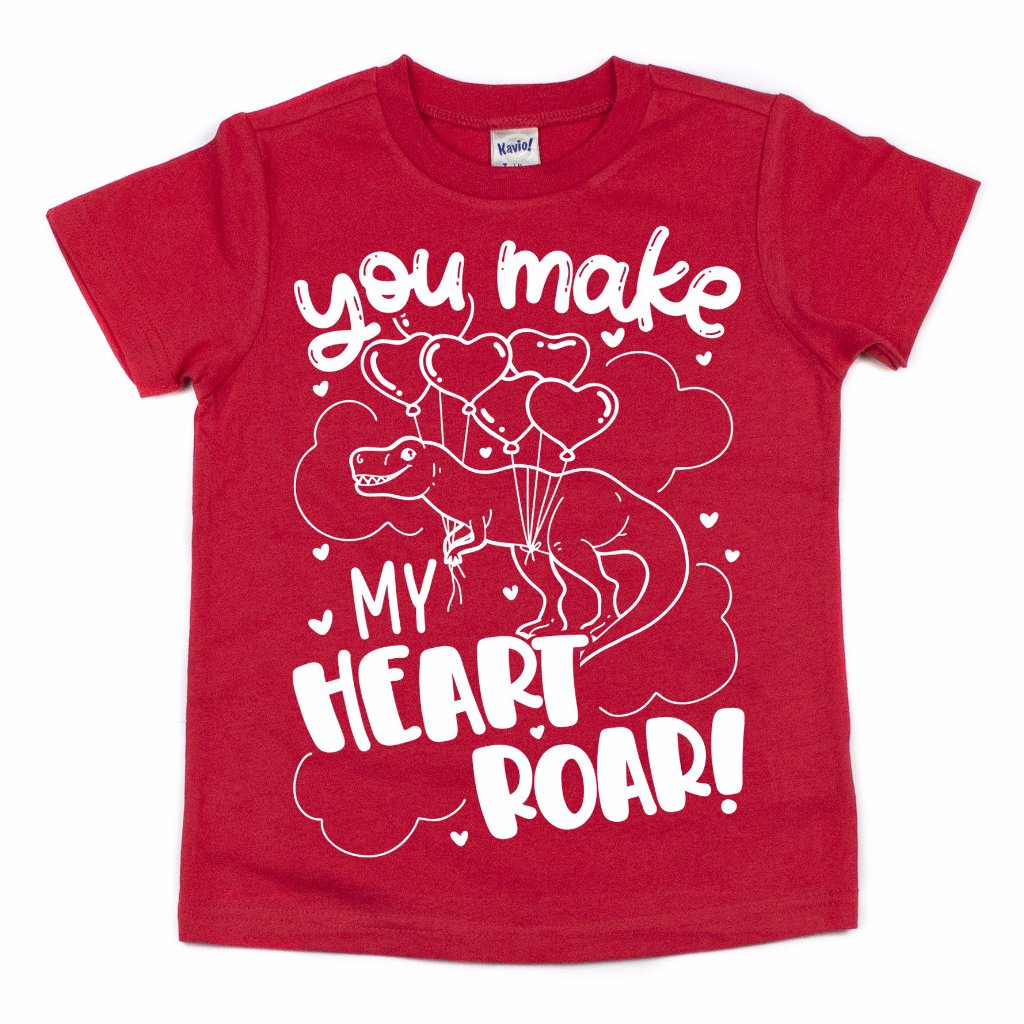 Heart Roar Dinosaur - Kids Tee