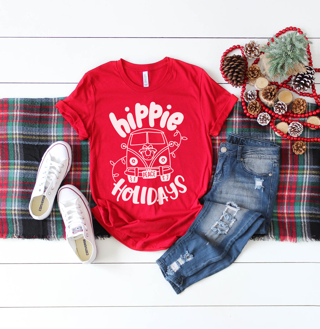 Hippie Holidays - Adult Holiday Tee