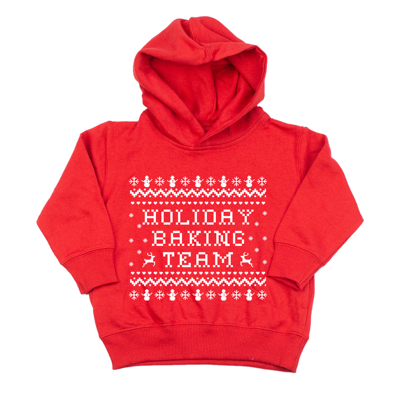 Holiday Baking Team - Kids Fleece Hoodie