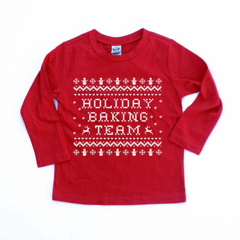 Holiday Baking Team - Kids Holiday Long Sleeve