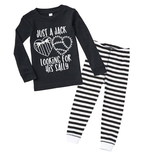 Just a Jack Looking for his Sally - Black/Stripe Pajama Set