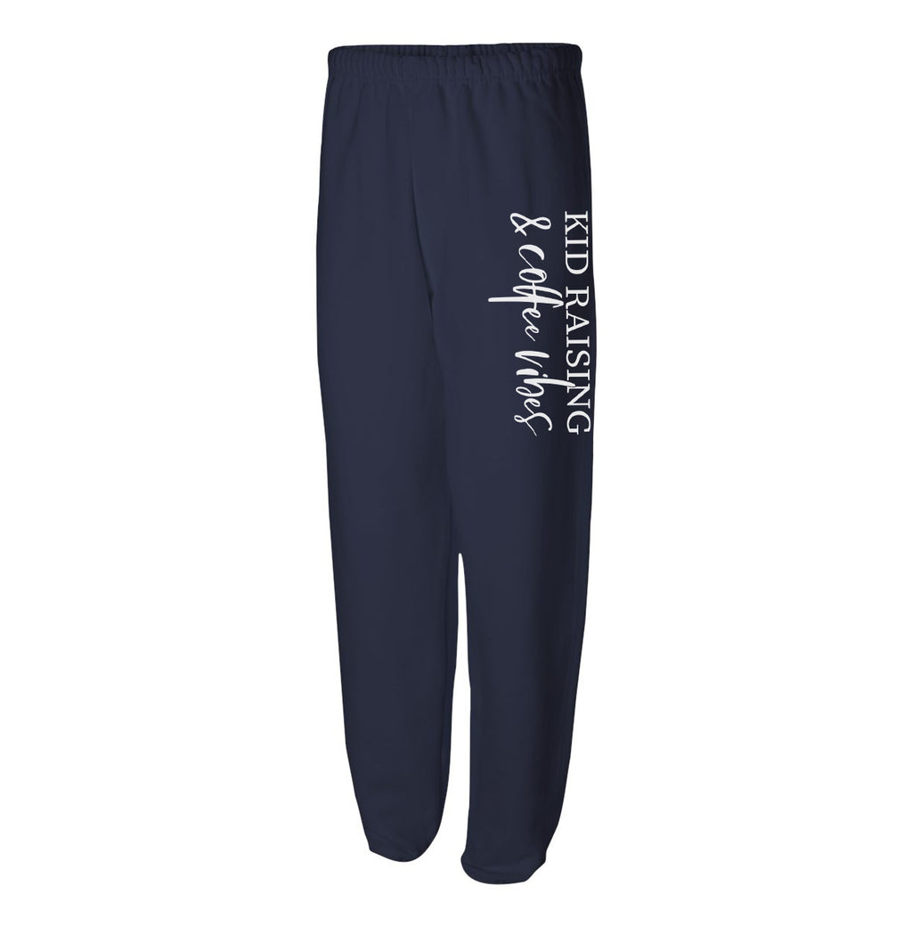 Kids Raising & Coffee Vibes - Navy Unisex Fleece Sweats