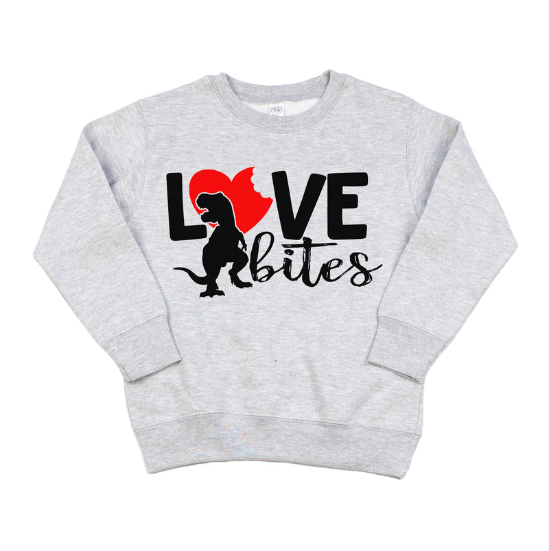 Love Bites Trex - Kids Fleece Pullover