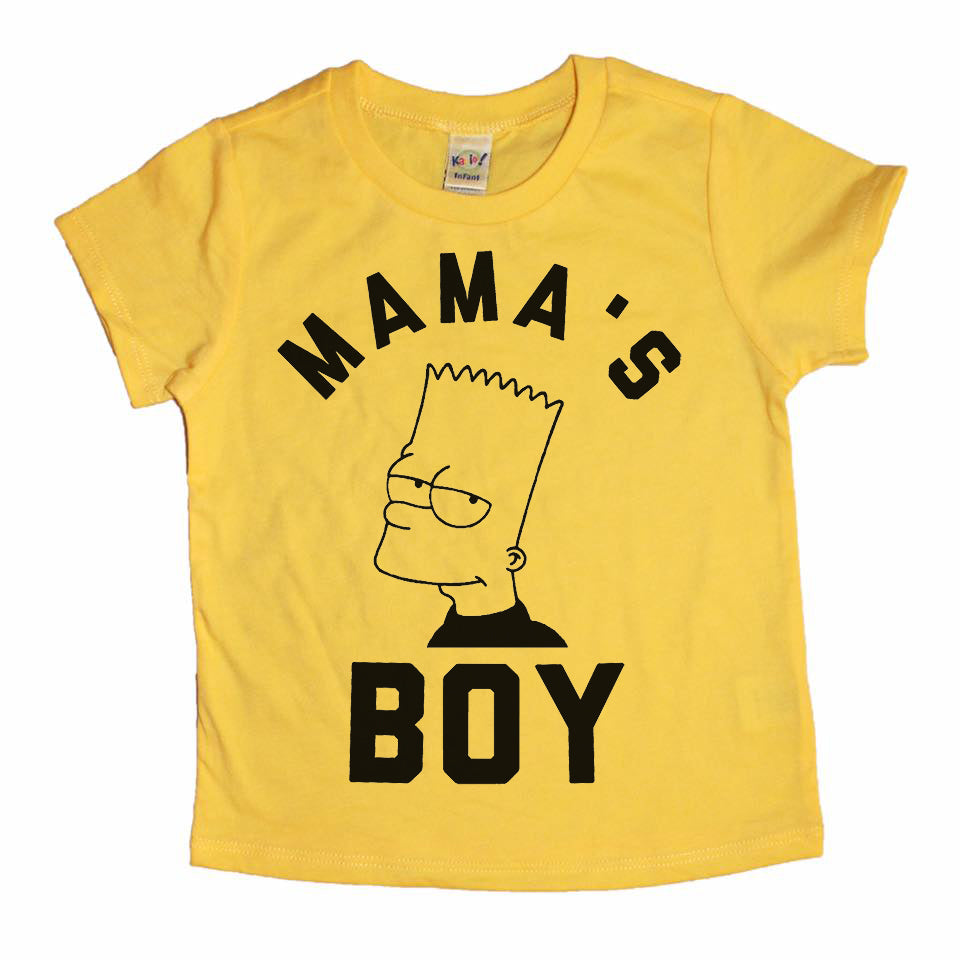 Mama's Boy black ink - Kids Tee