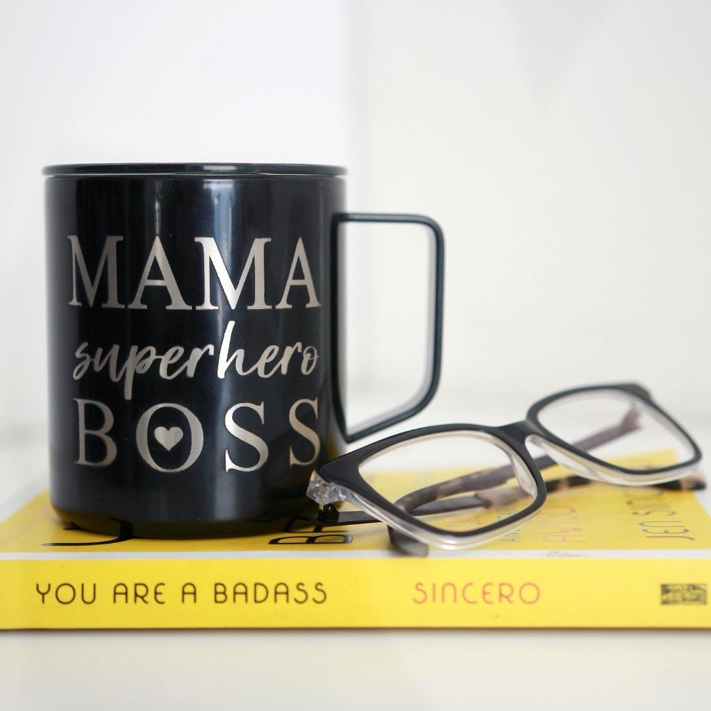 Mama Superhero Boss 14oz Stainless Steel Mug