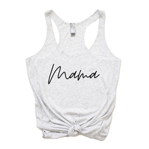 Mama minimalist - Heather White Women's Racerback Tank
