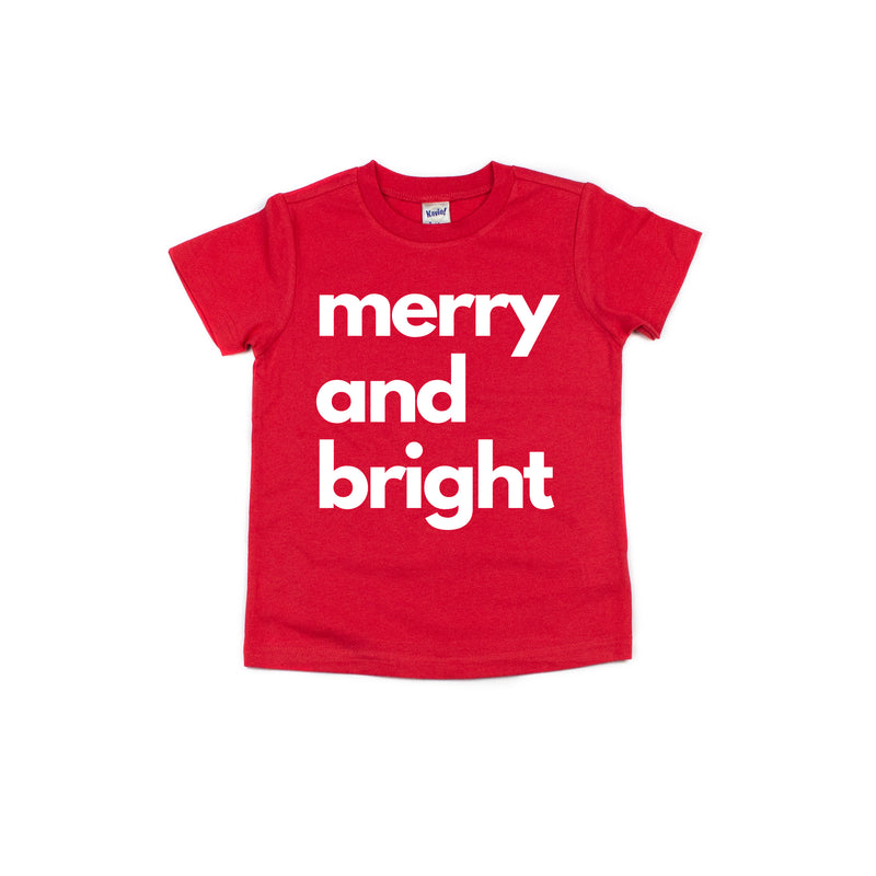 Merry and Bright - Kids Holiday Tee