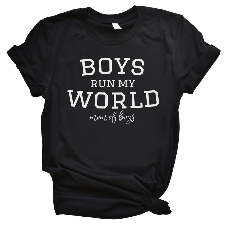 Boys Run my World - Black Unisex Tee