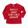 Mostly Nice Sometimes Naughty - Kids Holiday Long Sleeve