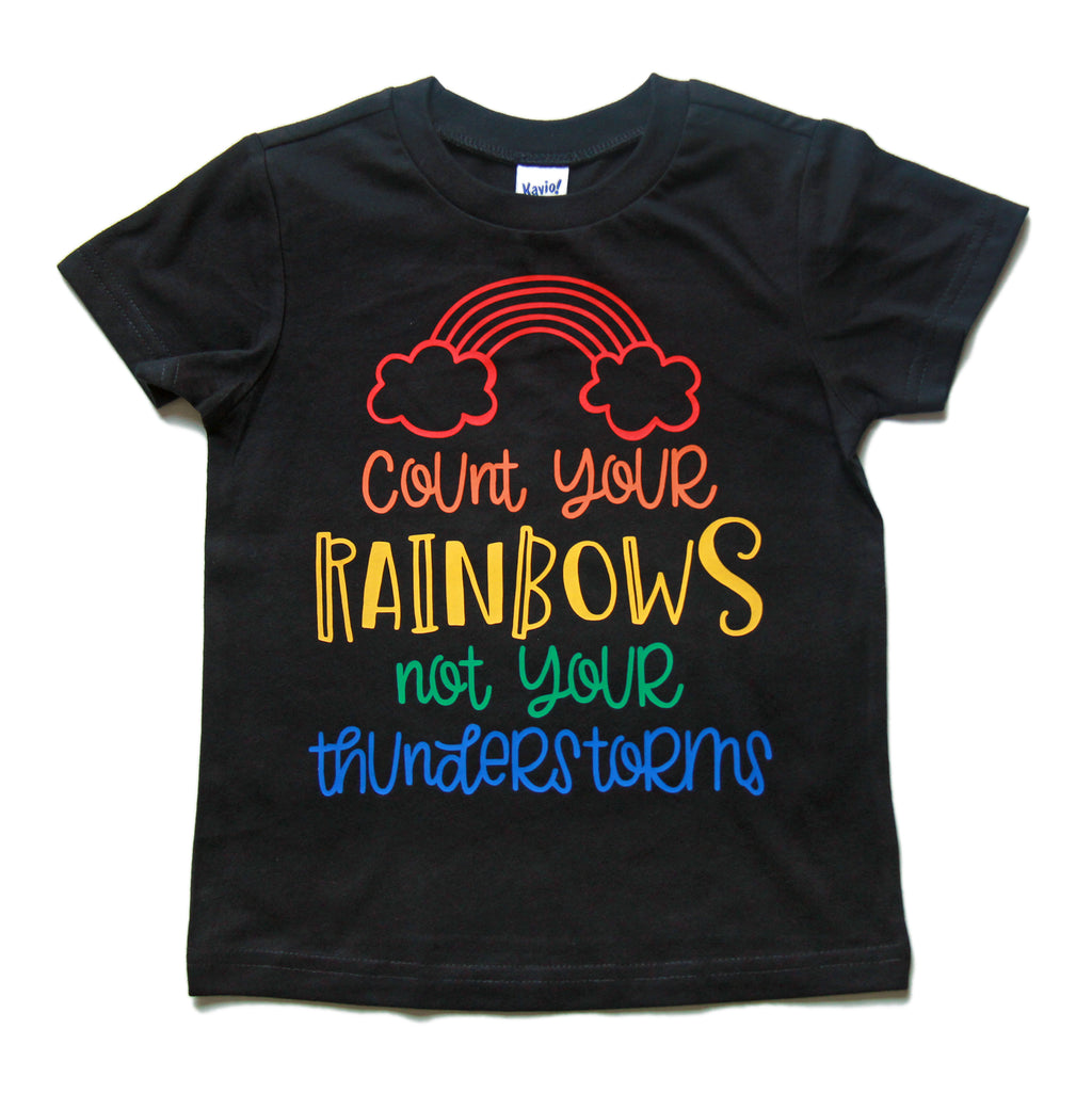 Count Your Rainbows - Kids Tee