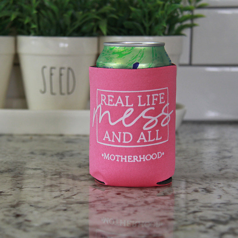 Real Life Mess - Hot Pink Can Kooler