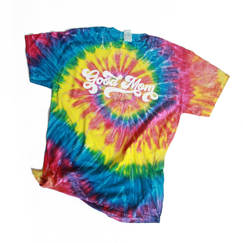 Good Mom Retro style tie dye shirt mom life shirt gifts for mom