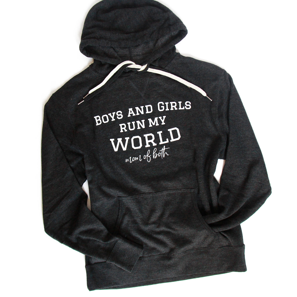 Run My World (Mom of) - Charcoal Heather Unisex French Terry Hoodie
