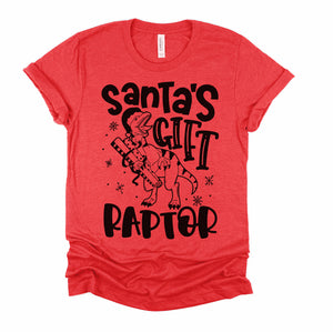 Santa's Gift Raptor - Adult Holiday Tee