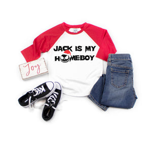 jack is my homeboy santa nightmare before Christmas kids shirt boy girl toddler christmas tshirt jack christmas shirt for kids