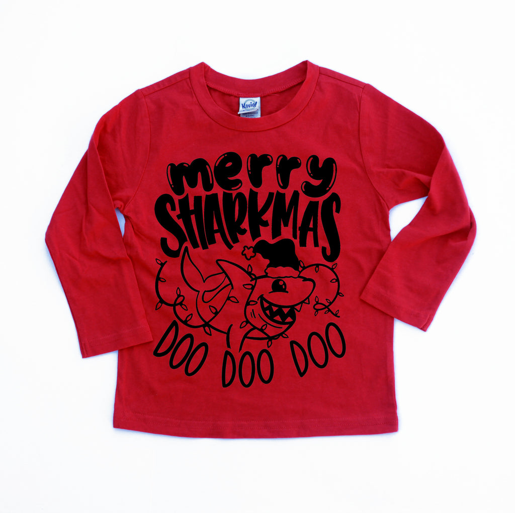 Merry Sharkmas - Kids Holiday Long Sleeve *Baby Bums Collab*