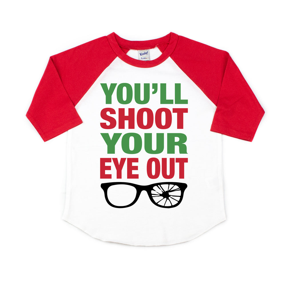 you'll shoot your eye out christmas story kids christmas shirt funny christmas tee shirt for kids boy girl toddlers christmas tshirt