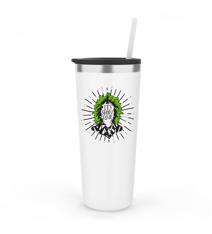 It's Showtime printed - White 22oz Tumbler *PREORDER*