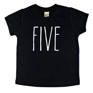 Skinny Five Birthday Shirt - Kids Tee