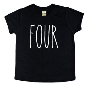 Skinny Four Birthday Shirt - Kids Tee