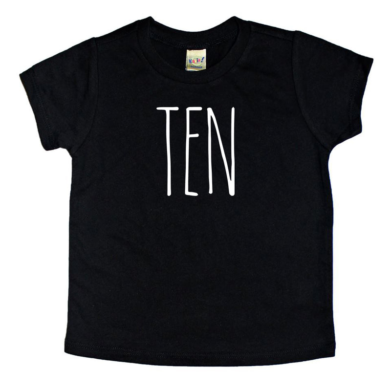 Skinny Ten Birthday Shirt - Kids Tee