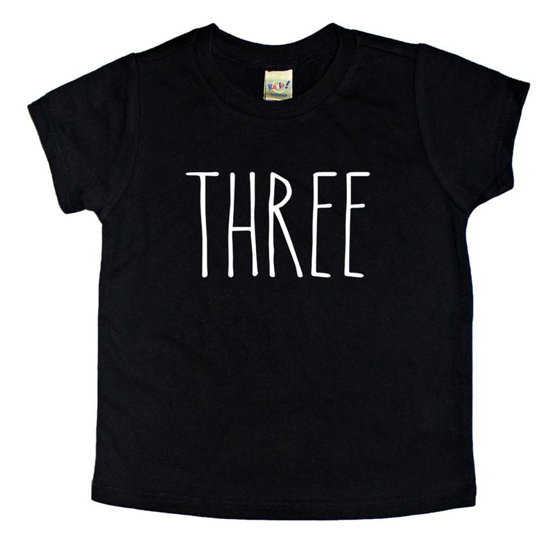 Skinny Three Birthday Shirt - Kids Tee