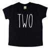 Skinny Two Birthday Shirt - Kids Tee
