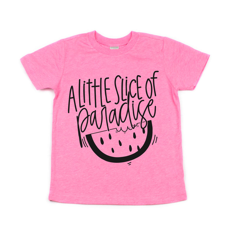 Little Slice of Paradise - 3T Pink Flash Kids Tee *ready to ship*