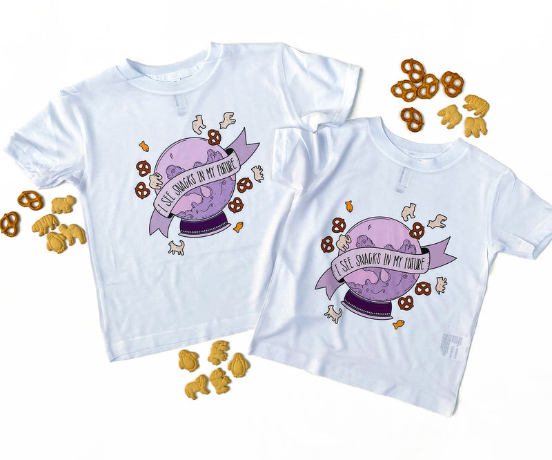 I See Snacks in my Future color - Kids Tee