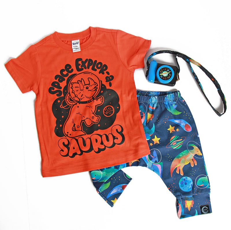 Space Explorasaurus  - Kids Tee