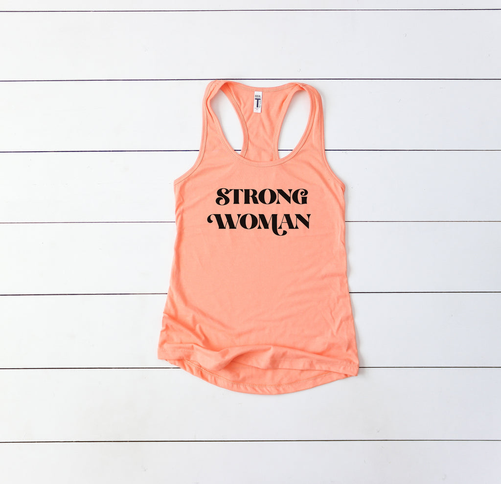 Strong Woman - Women's Racerback Tank
