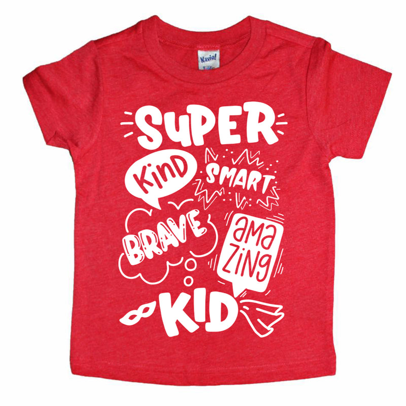 super kind super hero kids tee boys shirt girls shirt toddler super hero shirt
