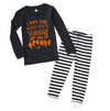 Tricks or Treats - Black/Stripe Pajama Set