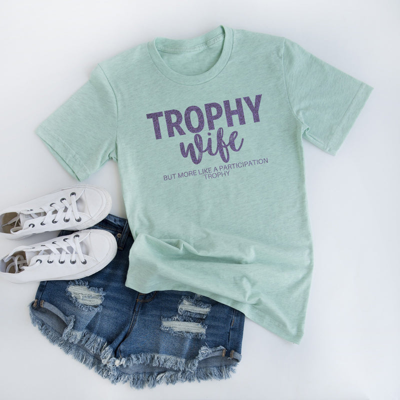 trophy wife funny mom shirt motherhood graphic tee mom life tshirt mama shirt gift for mom