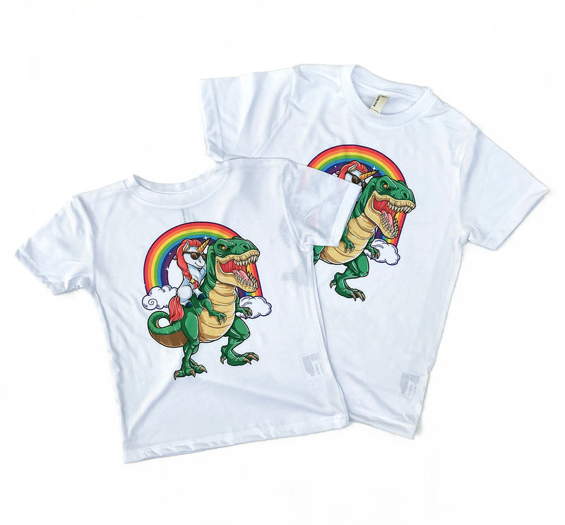 Unicorn T-Rex - Kids or Adult Tee
