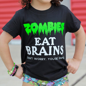 Zombies Eat Brains - Kids Tee