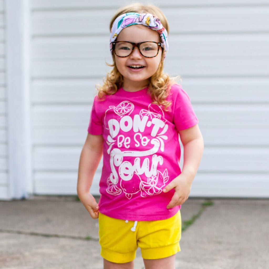 Don't be sour funny kids lemon t shirt funny shirt for kids funny kids t shirt summer kids shirt