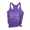 We're All Tired - Women's Triblend Racerback Tank