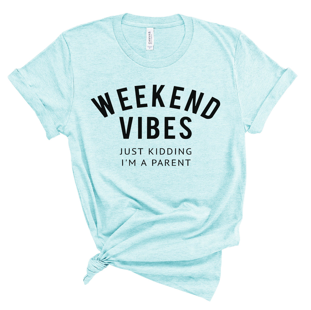 Weekend Vibes - Heather Ice Blue Unisex Tee