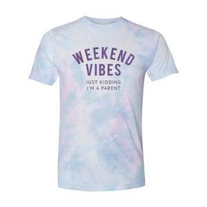 Weekend Vibes - Purple Dream Tie Dye Adult Unisex Tee