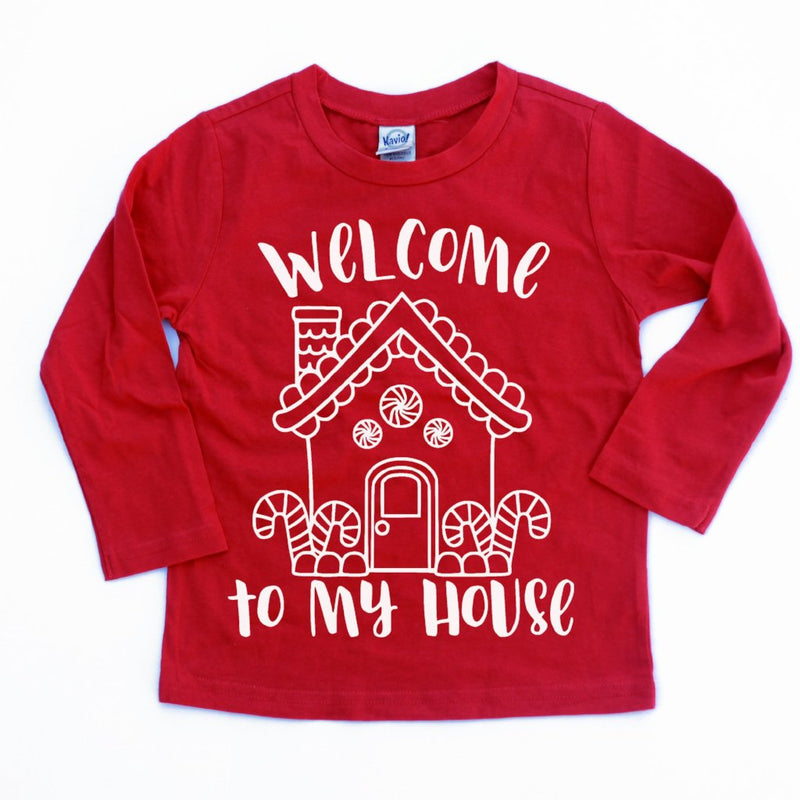 Welcome to My House - Kids Holiday Long Sleeve