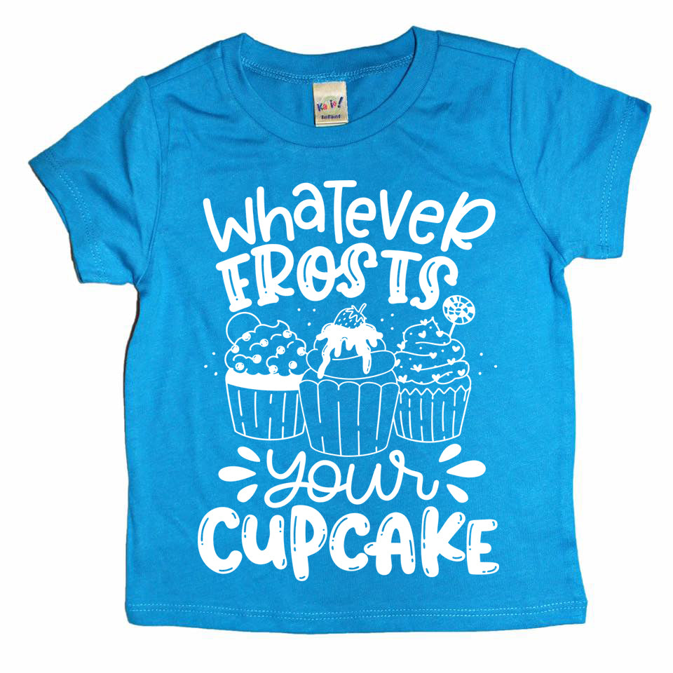 Whatever Frosts Your Cupcake white ink - Kids Tee